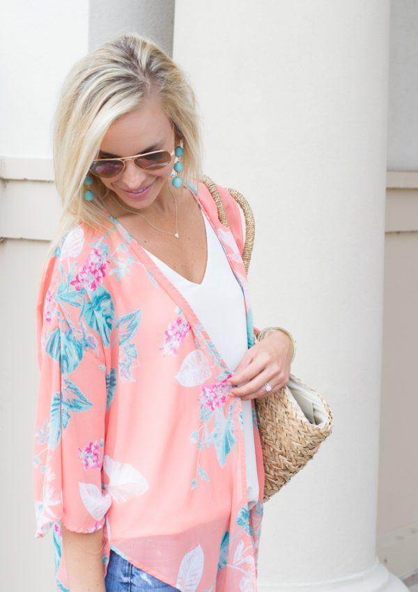 Floral Kimono + Summer Skin Regimen