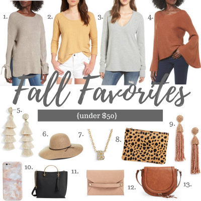Fall Favorites Under $50